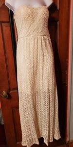 No Boundaries Dresses - Maxi cream lace dress